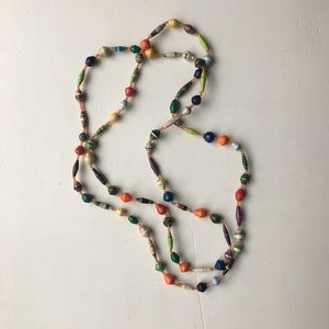 Jewelry - Long African bead necklace